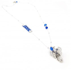 Sautoir diffuseur parfum/huile essentielle élephant bleu