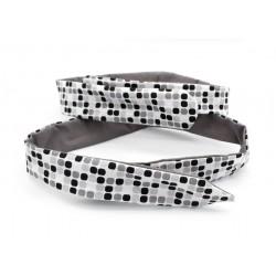 Headband modulable réversible , uni et motif quadrillage