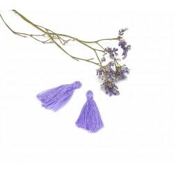 Pompons pampilles violets