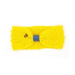 Cache oreilles jaune et bleu