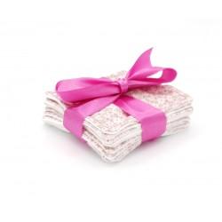 Lingettes démaquillantes lavables motif floral
